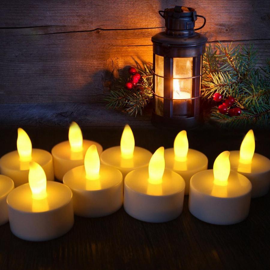 Fun Express Gold Battery Operated Tealight Candles ~1 Dozen