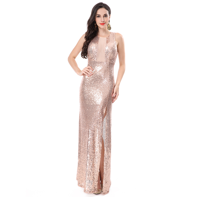 Maxi Long Evening Dresses 2016, New Sexy Sequin Dress Wholesale