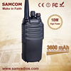 10Watts Long distance walkie talkie SAMCOM CP-400HP with FCC approval, 3600mAh high capacity batterypack