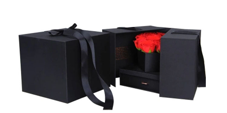2019 craft wholesale cardboard paper New product luxury flower box