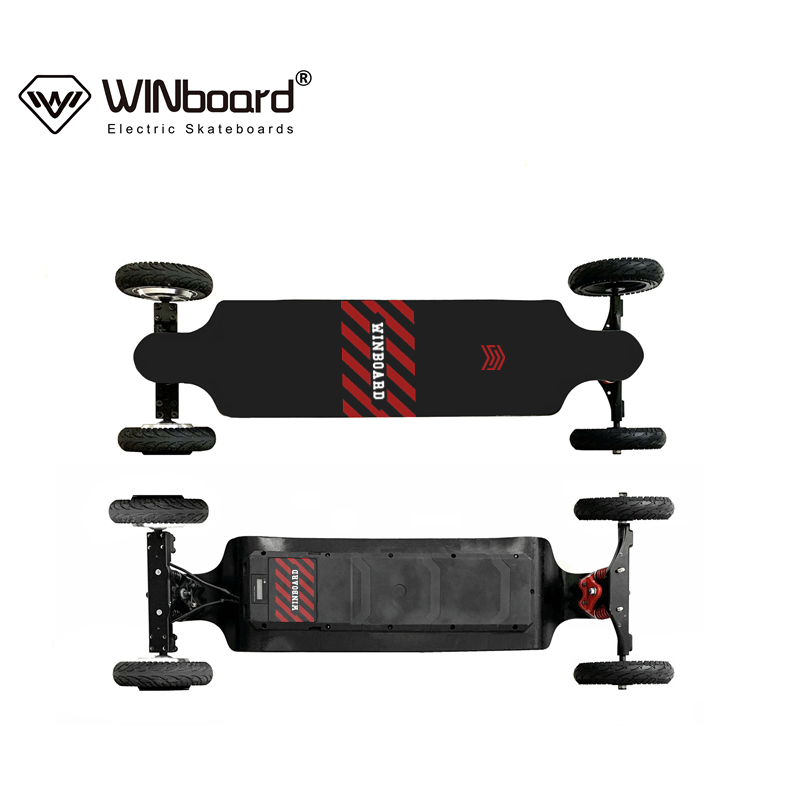 WINboard new GTM CROSS 8 inch inflatable tires 36V 14AH battery dual hub motor drive off road electric skateboard