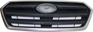 Plastic Textured Gray Grille Assembly for 2015-2016 Subaru Legacy SU1200161