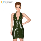 High Quality Women's Latex Dress Rubber Fashion Swing Dress Natural Latex Catsuit Women