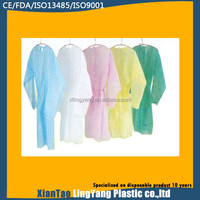 Elastic cuff durable SMS yellow isolation gown