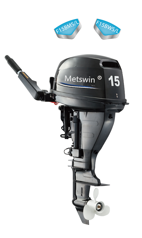 2 cylinder 4 stroke 15hp boat electric engine outboard motor with remote control