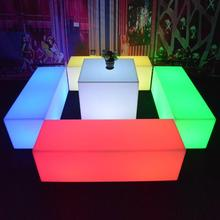 led lighted up decorative coffee table home furniture led cube coffee table