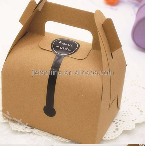 2015 Hot-selling Recycled Brown Kraft Paper Food Box