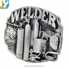 Factory Wholesale Custom Engraved Logo Zinc Alloy Automatic Belt Buckle