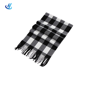 checked scarf mens wool scarf plaid shawl