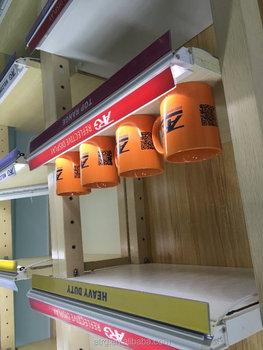 New Retrofitting design Wooden wall gondola shelving with LED shelf lighting & New Retrofitting Design Wooden Wall Gondola Shelving With Led ... azcodes.com