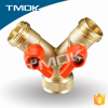 double female thread Y type brass magnetic locking ball valve with 2 lockable handle