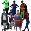 China Wholesale Adorable latex super hero costume skintight adult super hero costume