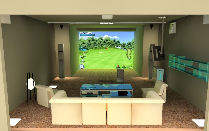 How much is a home golf simulator home review for Interior design room simulator