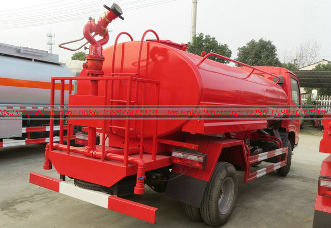 Stainless Steel Water Bowser Fire Truck 3Tons Water Tank For Sales
