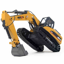 Huina 1580 RC Digger Full Metal Ulat <span class=keywords><strong>Mainan</strong></span> 1 Sampai 14 Skala 23 Channel V4 Upgrade Radio Kontrol Excavator
