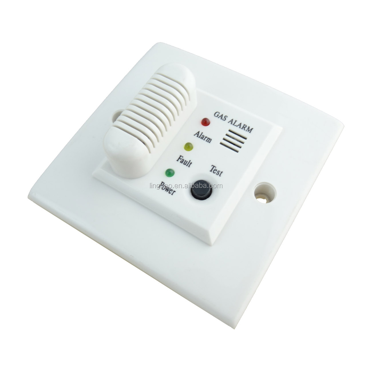 Embedded Gas Leakage Alarm with Semiconductor Sensor LED Indicator Test Button and CE Mark