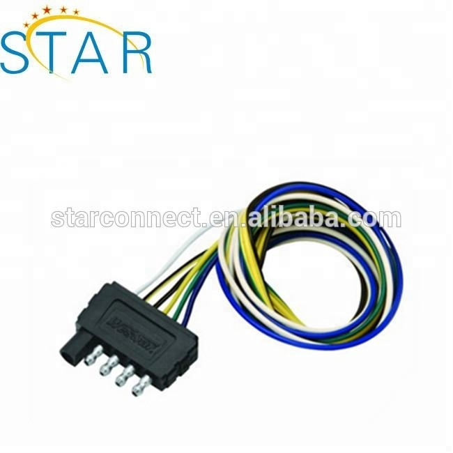 7 Pole Rv Male Plug To 6 Way Round Pin Socket 12v Trailer ...  Pole Trailer Wiring Harness on 7 pole trailer connector, 7 pole rv connector, 7 pole ignition switch, for satellite receiver wiring harness, 7 pole wire connector silverado, 1989 toyota camry wiring harness,