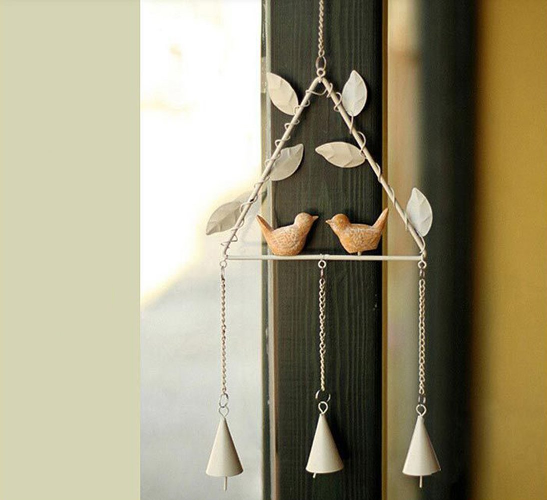Wind Chimes,Wind Bell,Handmade Metal Iron Bird Crafts Wind Chimes Home Furnishing Wall Hanging Bar Living Decoration,Wind Chimes Home Decorative Supplies Doorway Iron Ornaments Crafts By (Triangle)