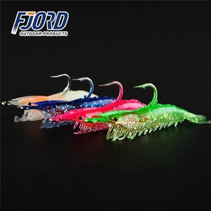 FJORD In Stock Lead Head Jigs Shrimp Soft Plastic Lure