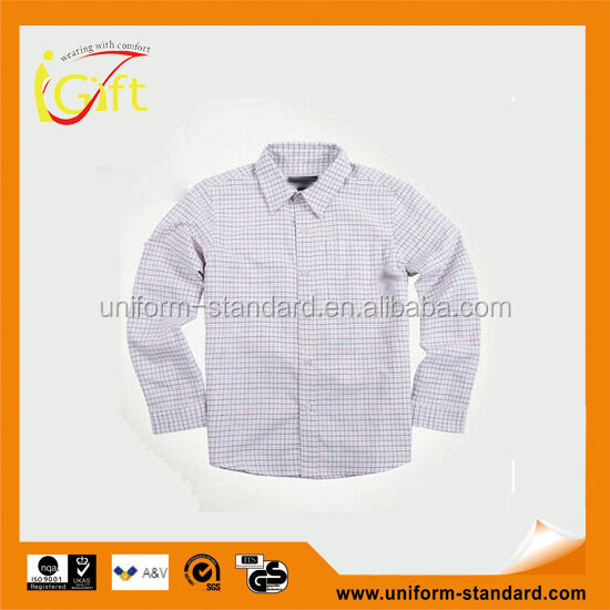 factory wholesales fashion cheap boys white school shirt