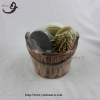 Promotional Natural Body Care wooden Bath Set