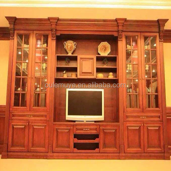 French New Classic Dining Room Living Tv Cabinet Luxury Solid Wood Vivid Hand Carved