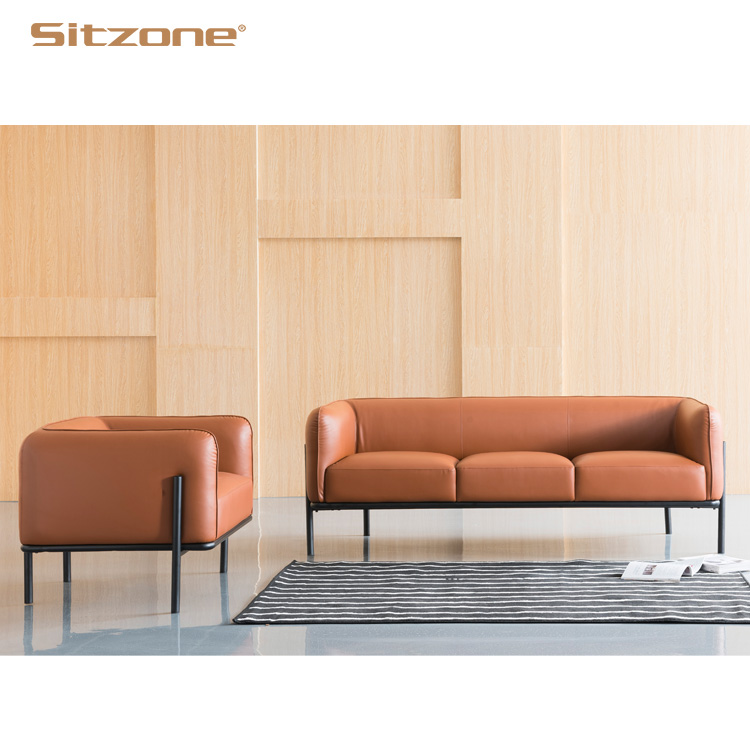 S102 Leather Cover Simple Design Office Small Sofa Set View Office Small Sofa Sitzone Product Details From Foshan Sitzone Furniture Co Ltd On Alibaba Com