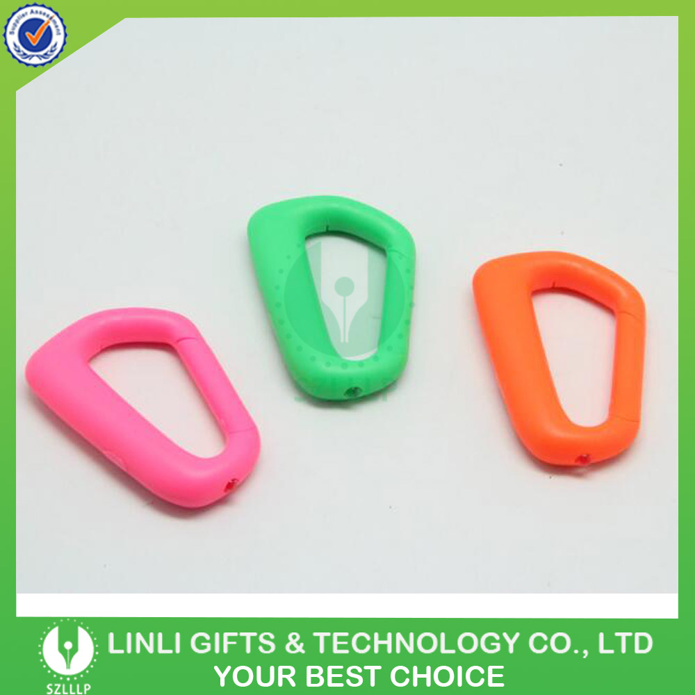 Customized Size Plastic Carabiner With Led Lights