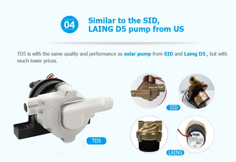 Professional Supplier of Solar DC Water Pump/Hot Water DC Circulation Pump