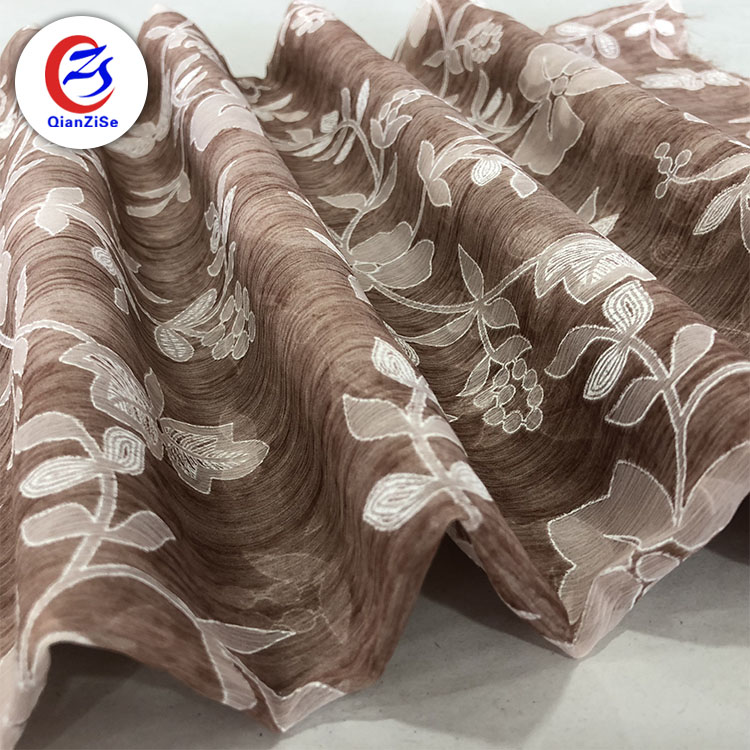 New Fashion Custom Silk Chiffon Cloth Digital Printed Fabric