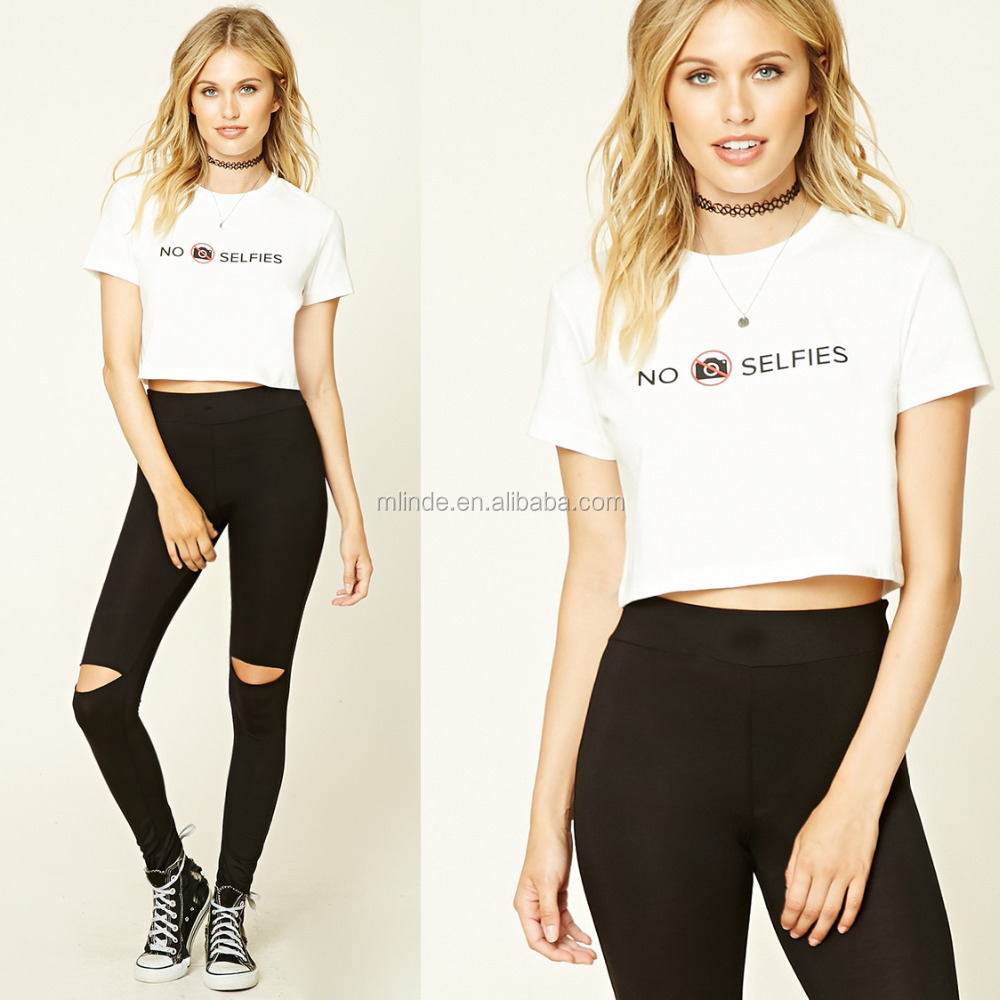 e427cc7de Adult Women Baseball No Selfies Graphic Cropped Tee Tops with Short Sleeves  T shits Blouses Wholesale Manufacturers Clothing