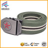 Wholesale classic polyester web belts striped canvas belt for men