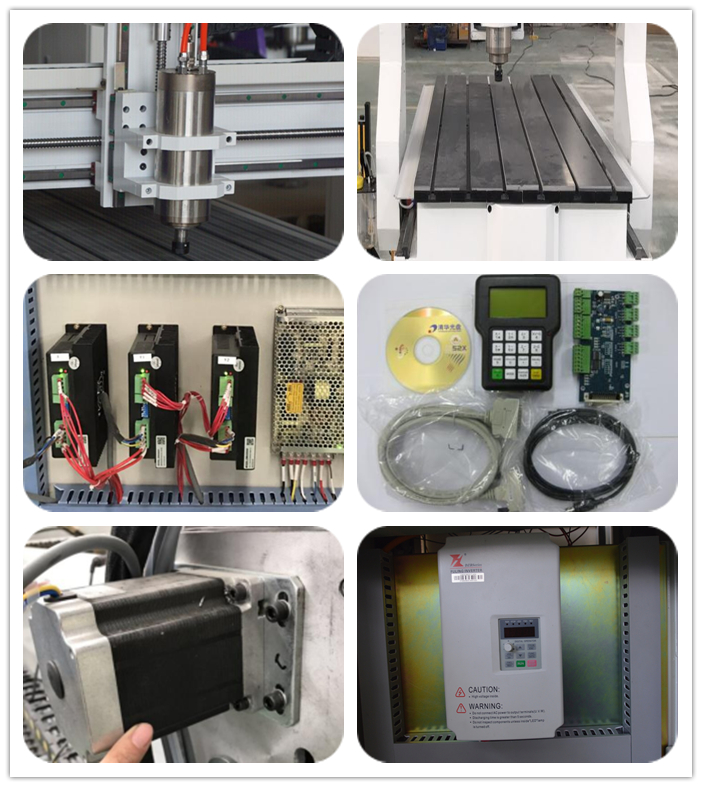 mini milling machine cnc router  60*90  for mold cutting