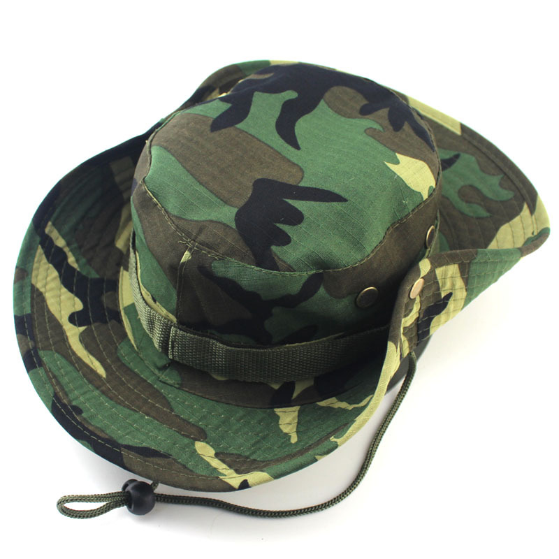 7c434e1605d2f Get Quotations · New Fashion Camouflage Hunting Boonie Hats For Men Women  Unisex Protection Against Insects Bucket Outdoor Fisherman