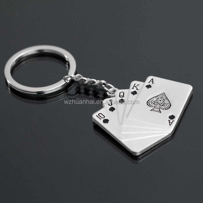 manufacture puzzle piece soft enamel metal poker chip keychain custom
