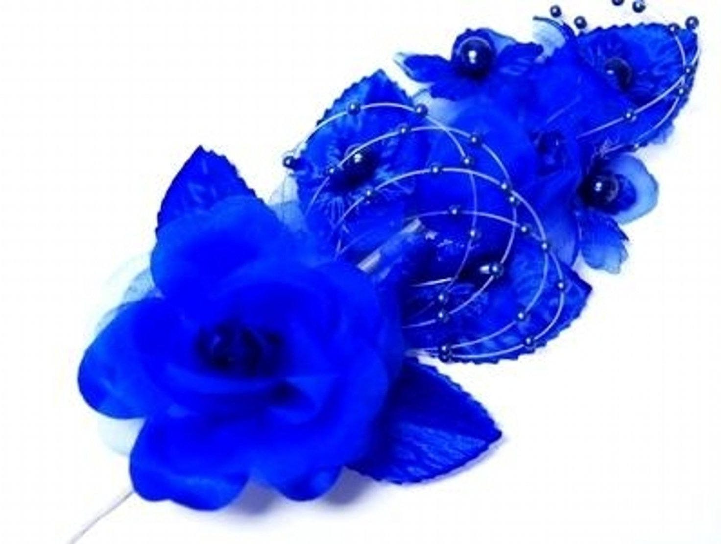 Cheap royal blue silk flowers find royal blue silk flowers deals on 3 royal blue silk flowers pearl organza corsages 5x 25 with a izmirmasajfo Gallery