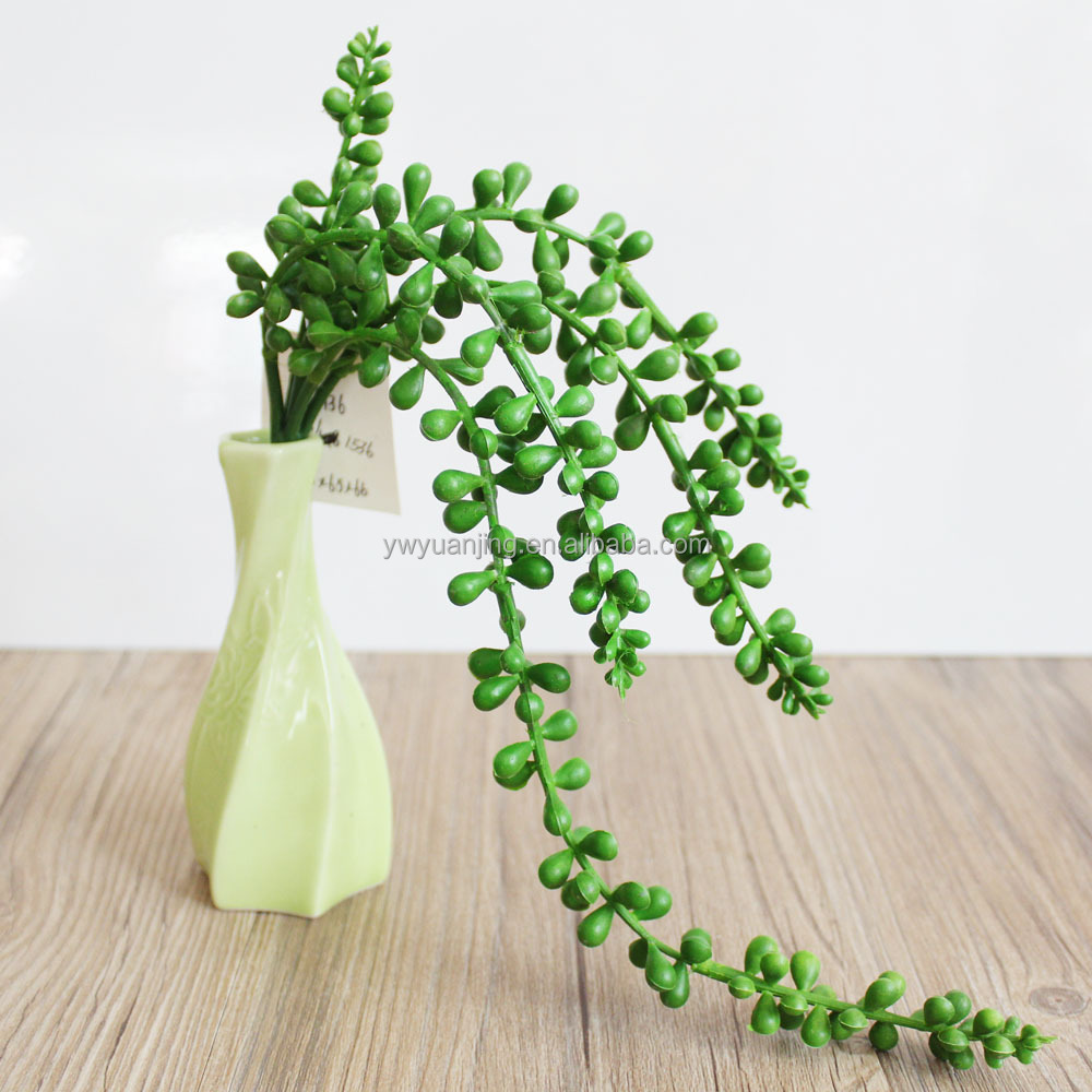 40cm length Artificial galet fake string-of-pearls hanging plant for centerpiece