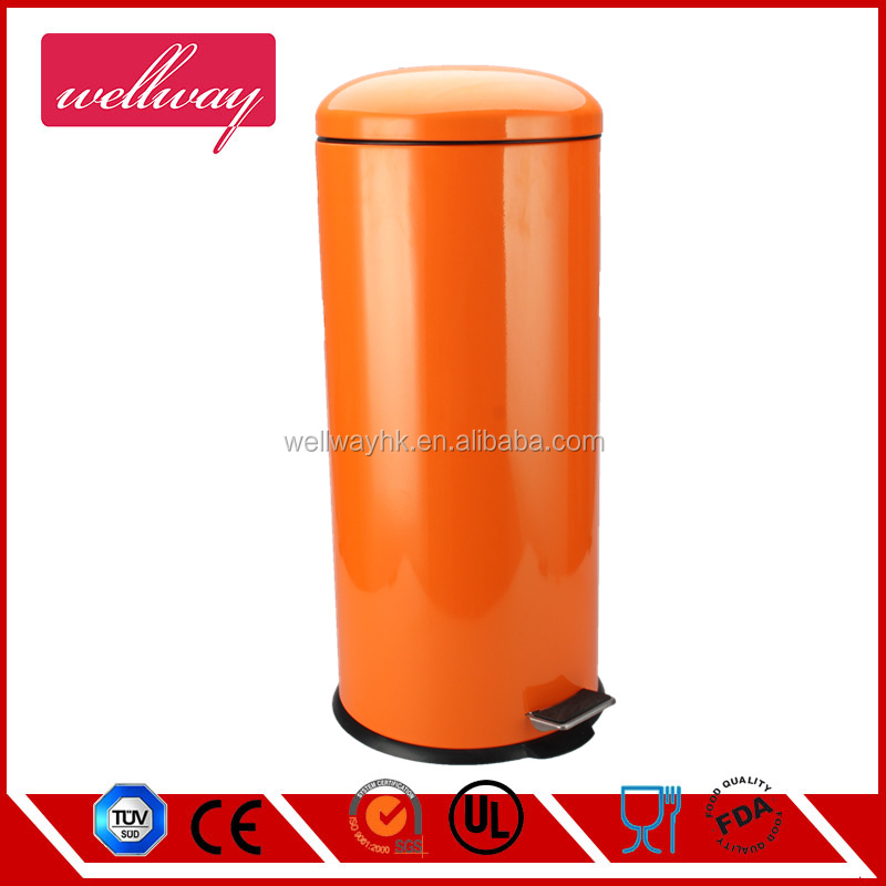 30L large metal garbage bin for hotel with color finishing
