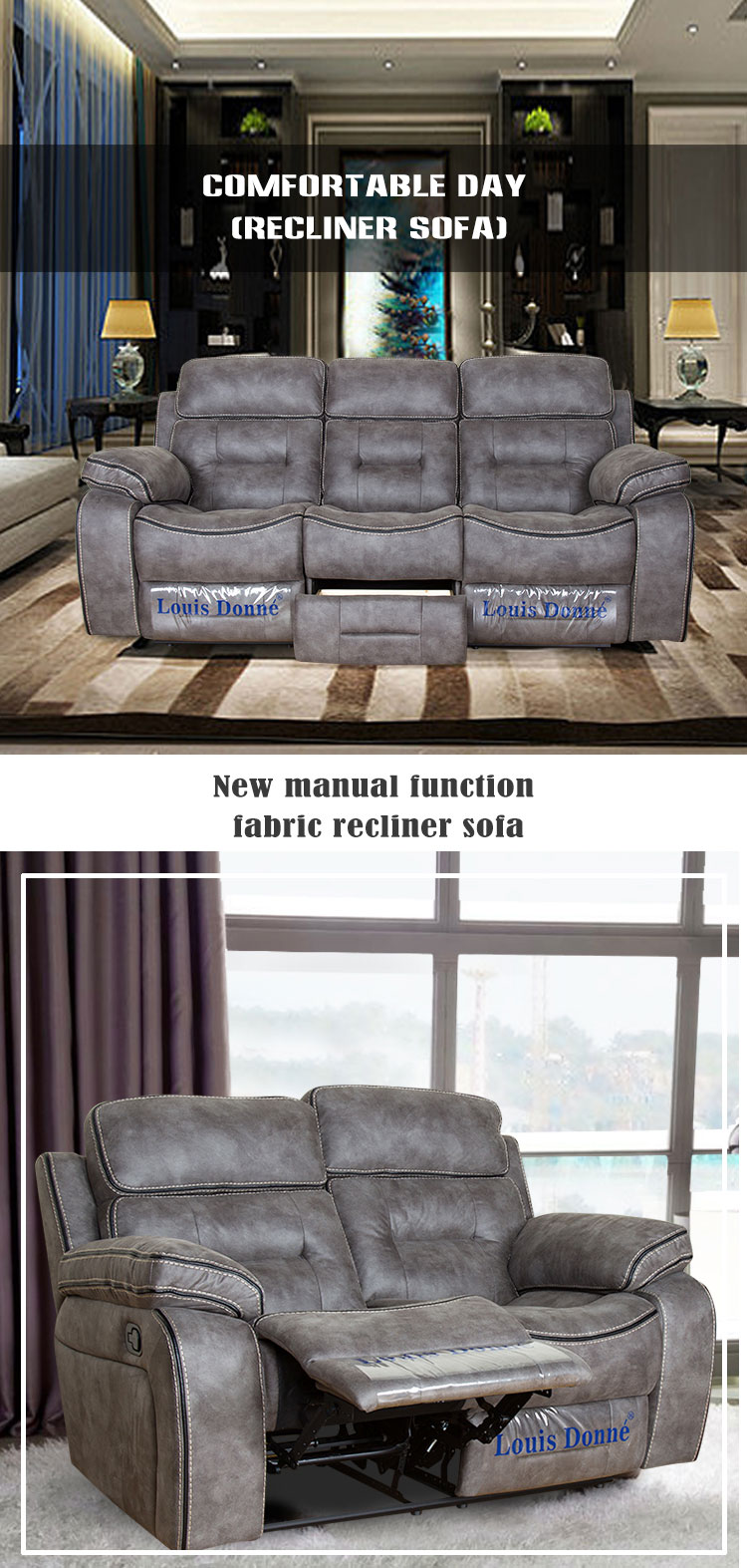Modern New Design Grey Fabric Double