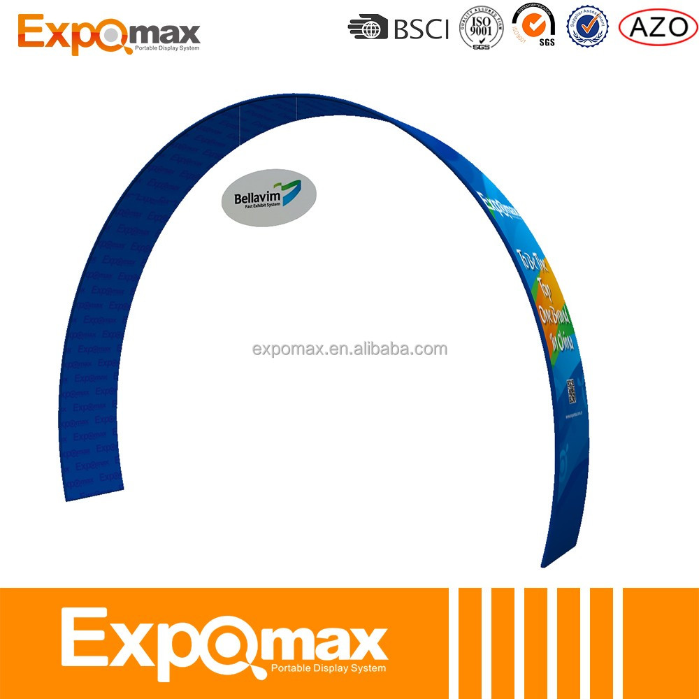 Trade show high quality tension fabric wedding arch