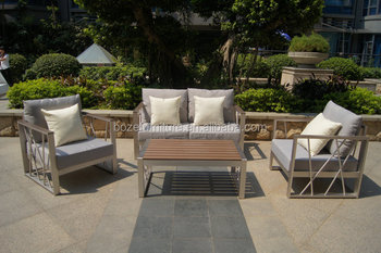 High Quality Aluminum Sofa Set Outdoor Garden Furniture Made In