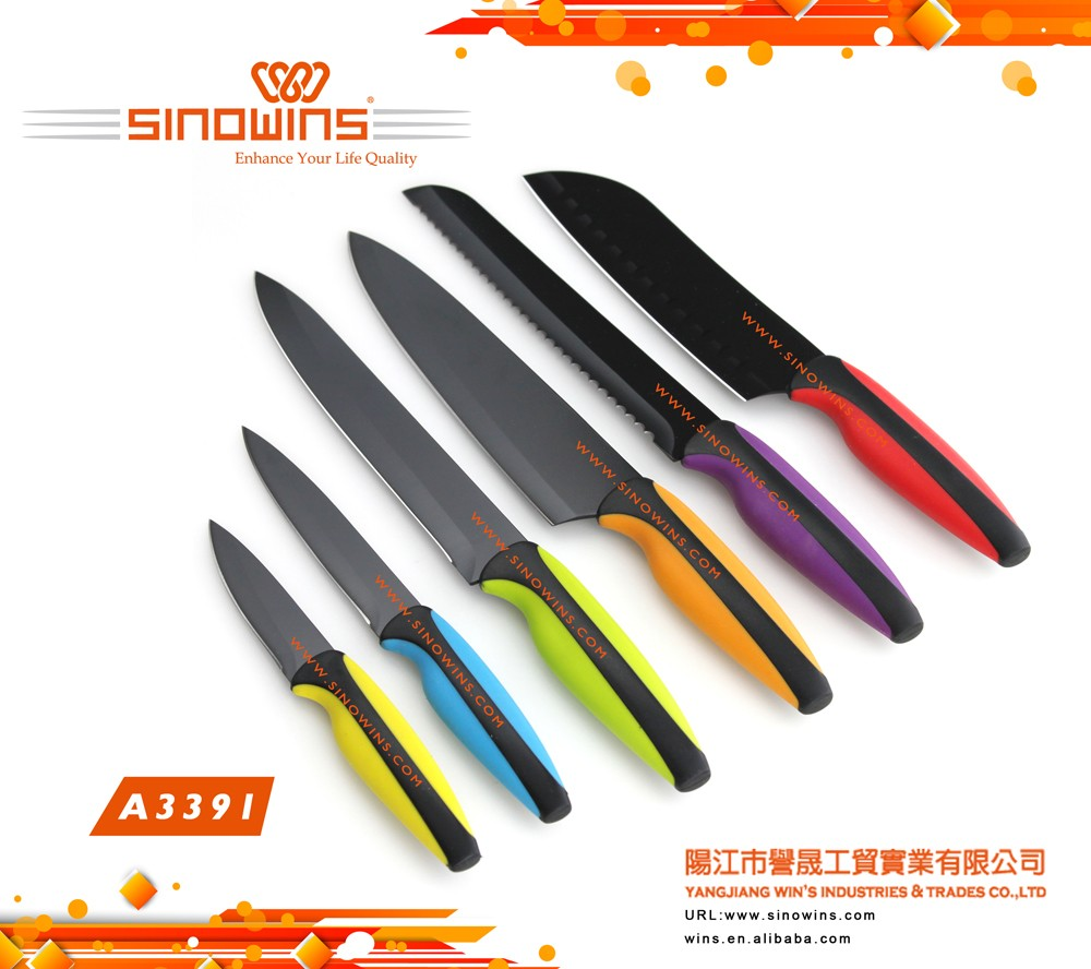 Professionale coltello da cucina set con Antiaderente Lame