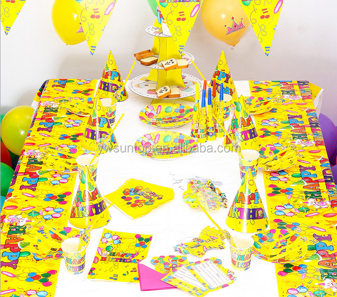 Bright Ballon Baby Birthday Theme Party Tableware Set Baby Shower <strong>Decorations</strong>