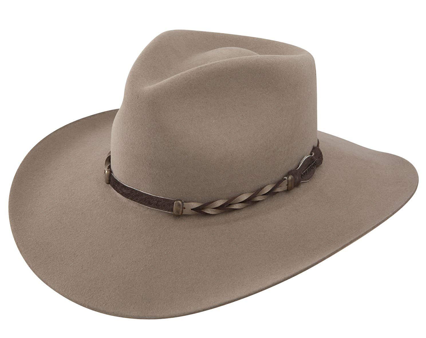 8b3b307ca3bcc Stetson Men s 4X Drifter Buffalo Felt Pinch Front Cowboy Hat -  Sbdftr-163420 Stone