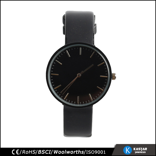 Black quartz women watches vintage lady watch simple dial