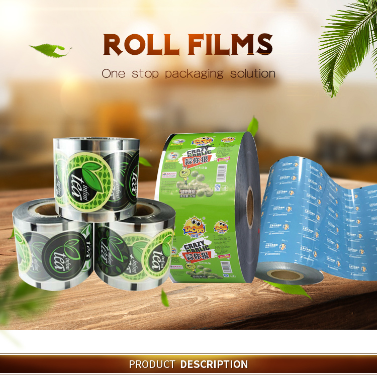 Plastic Roll Film Material For Mustard Mayonnaise Sauce Sachet Packaging