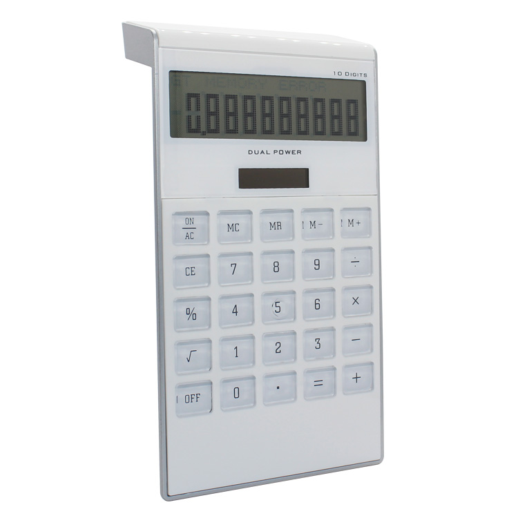 Promotionele 10 Digit Desktop Dual Power Elektronische Solarcalculator