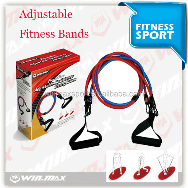 2015 latex sterk stretching oefening band voor fitness, custom weerstand band