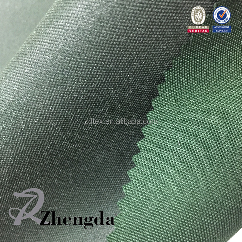 Waterproof Stretch Yarn Dyed Fabric Pu Coated <strong>Material</strong> For Luggage Bags