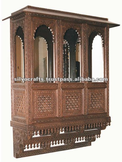 Wooden Carved Jharokha Wall Decoration Furniture From India Hanging Decorative Cabinets